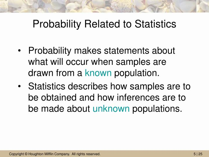 Probability Related to Statistics