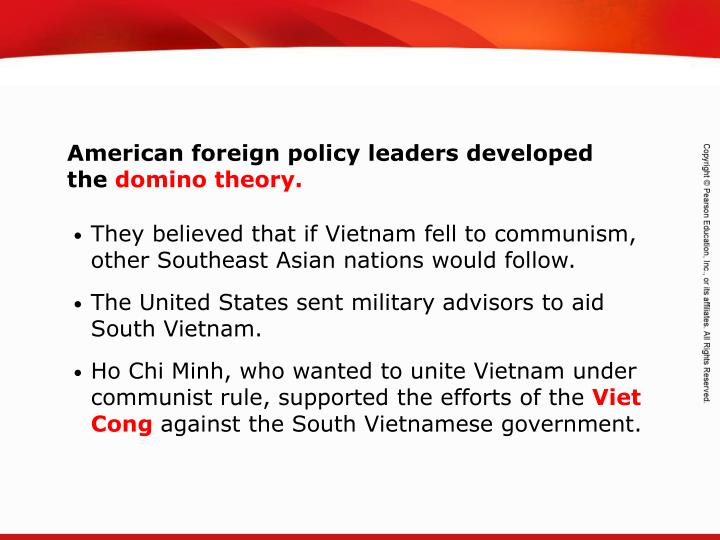 American foreign policy leaders developed