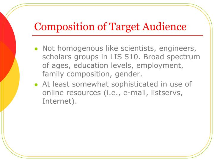 Composition of Target Audience