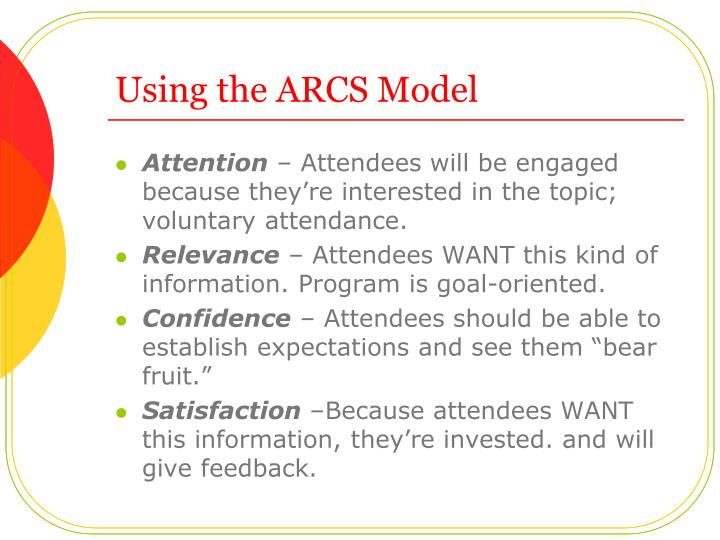Using the ARCS Model