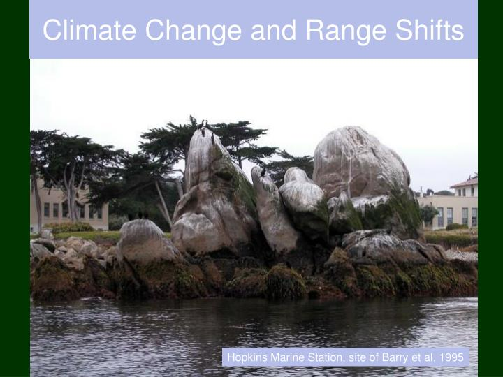Climate change and range shifts