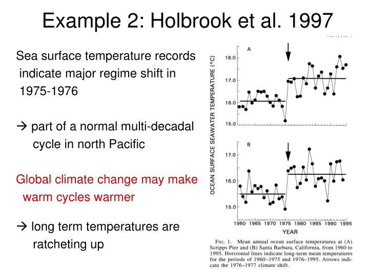 Example 2: Holbrook et al. 1997