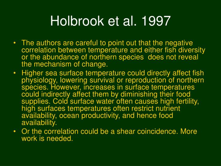 Holbrook et al. 1997