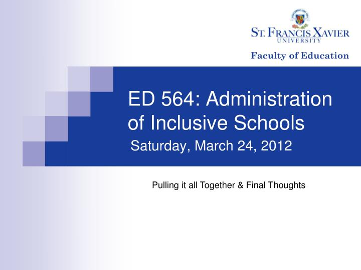Ed 564 administration of inclusive schools
