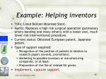 example helping inventors