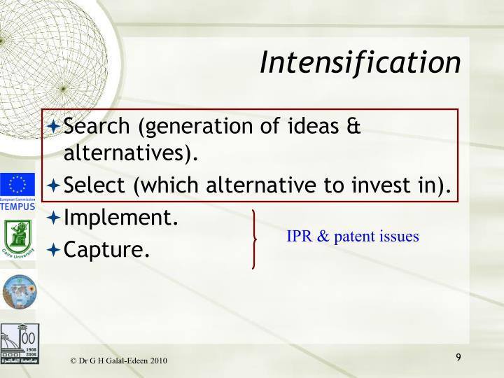 Intensification