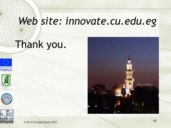 Web site: innovate.cu.edu.eg