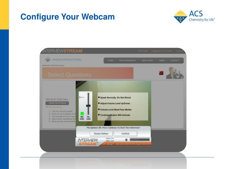 Configure Your Webcam