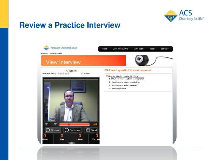 Review a Practice Interview