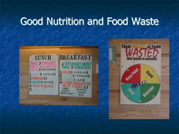 Good Nutrition and Food Waste
