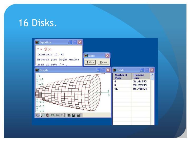 16 Disks.