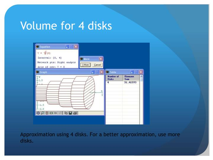 Volume for 4 disks