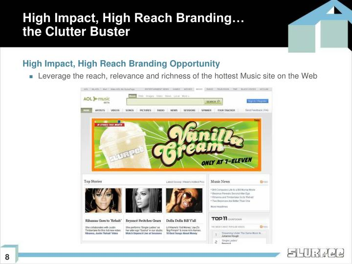 High Impact, High Reach Branding Opportunity