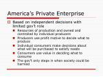 america s private enterprise