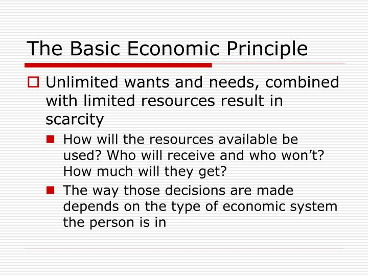 The basic economic principle