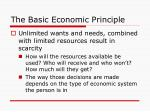 the basic economic principle