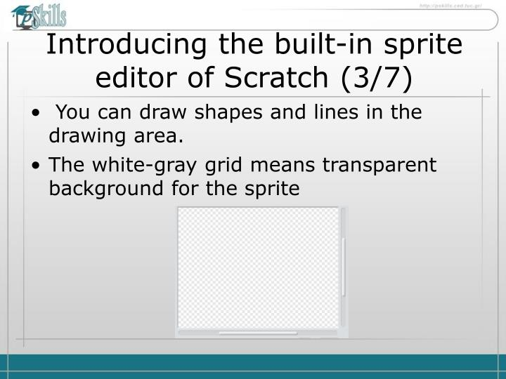 Introducing the built-in sprite editor of Scratch
