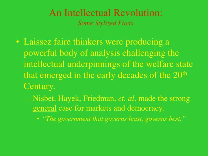 An Intellectual Revolution: