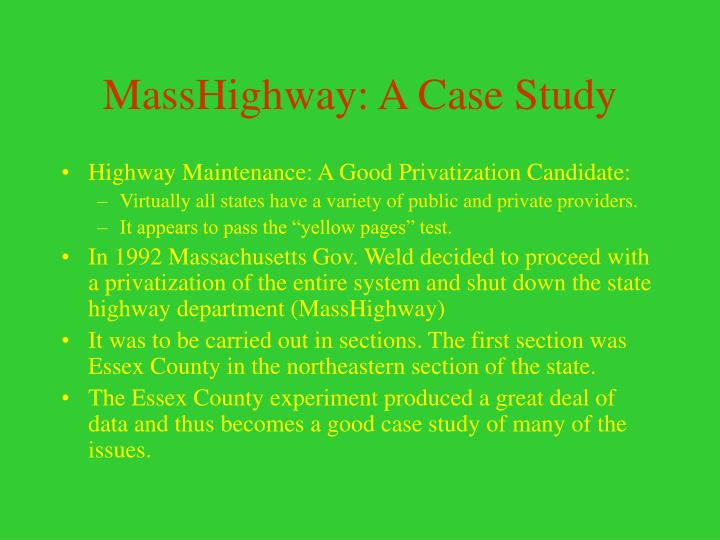MassHighway: A Case Study
