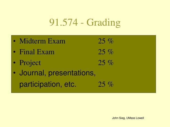 91.574 - Grading