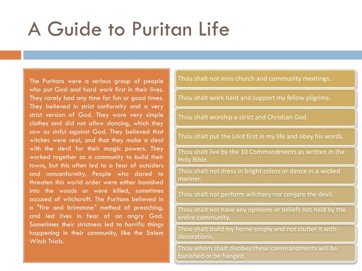 A guide to puritan life