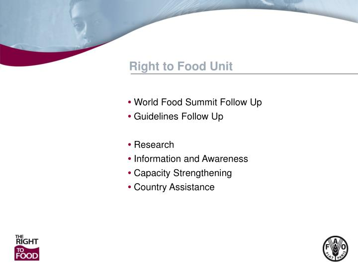 Right to Food Unit