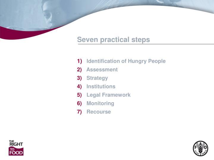 Seven practical steps