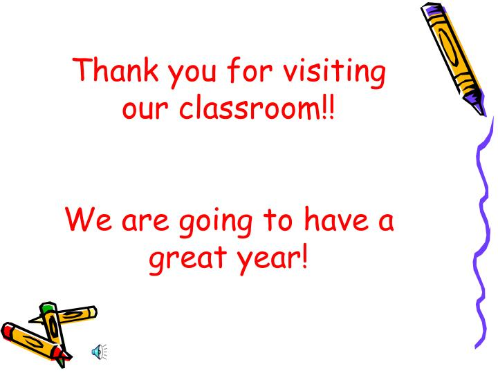 Thank you for visiting our classroom!!