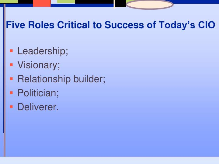 Five Roles Critical to Success