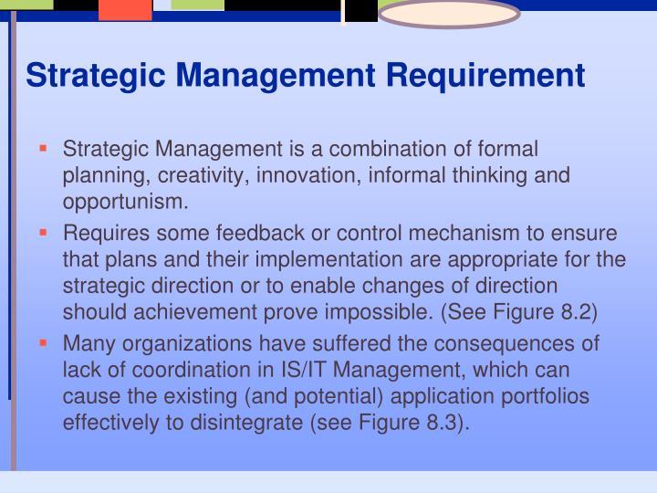 Strategic Management Requirement