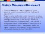 strategic management requirement
