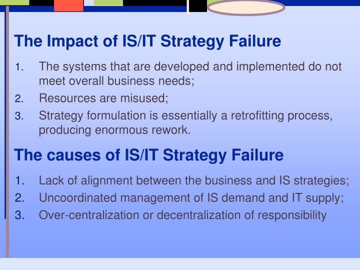 The Impact of IS/IT Strategy Failure