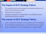 the impact of is it strategy failure