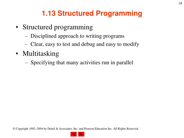 1.13 Structured Programming