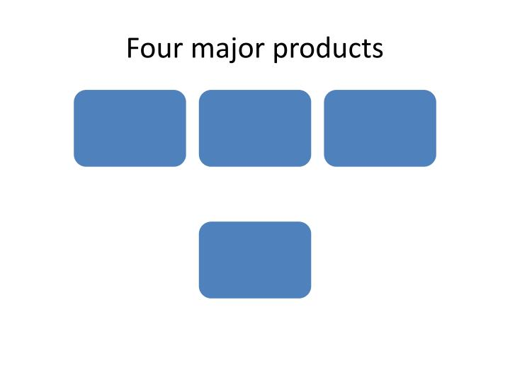 Four major products
