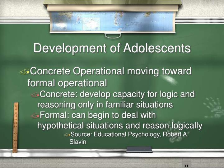 Development of Adolescents