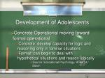 development of adolescents