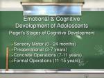 emotional cognitive development of adolescents