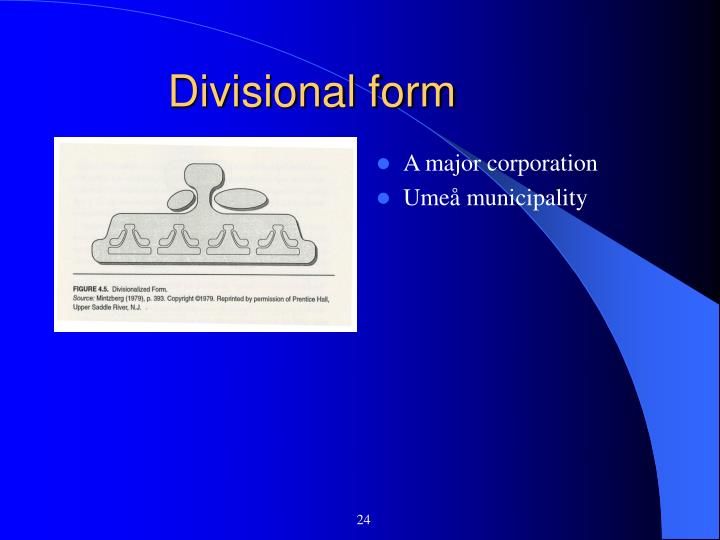 Divisional form