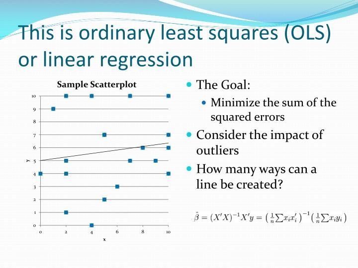 This is ordinary least squares (OLS) or linear regression