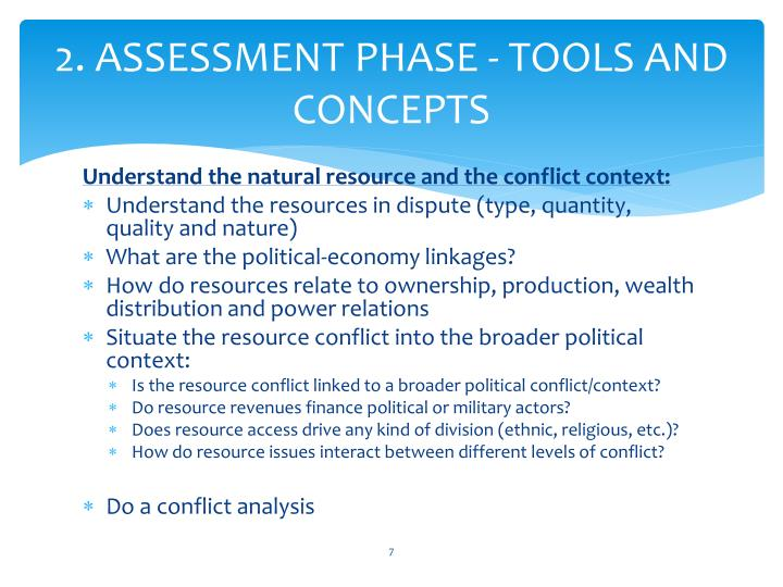 2. ASSESSMENT PHASE - TOOLS AND CONCEPTS