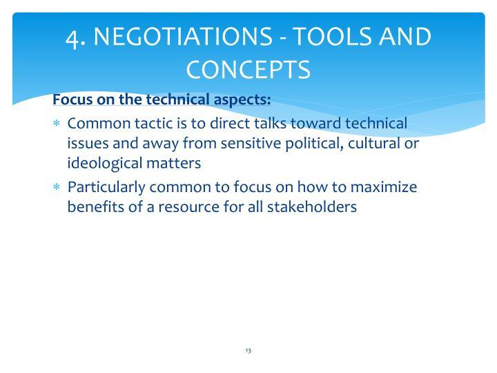 4. NEGOTIATIONS - TOOLS AND CONCEPTS