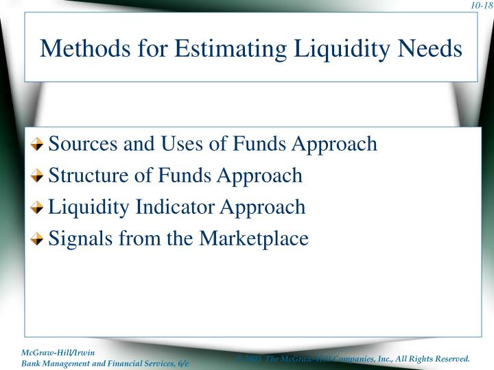 Methods for Estimating Liquidity Needs