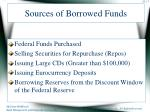 sources of borrowed funds