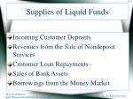 supplies of liquid funds