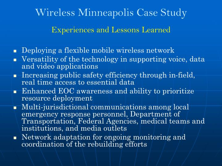 Wireless Minneapolis Case Study