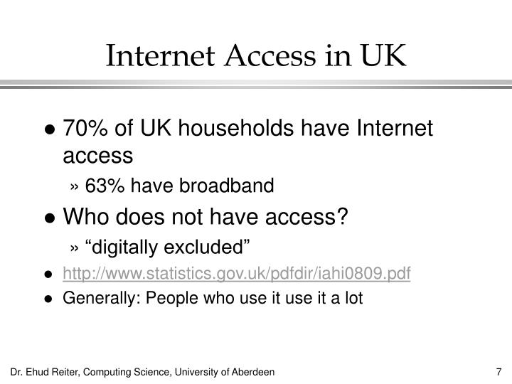 Internet Access in UK