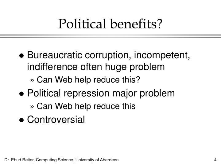 Political benefits?