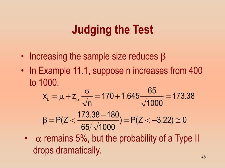 Judging the Test