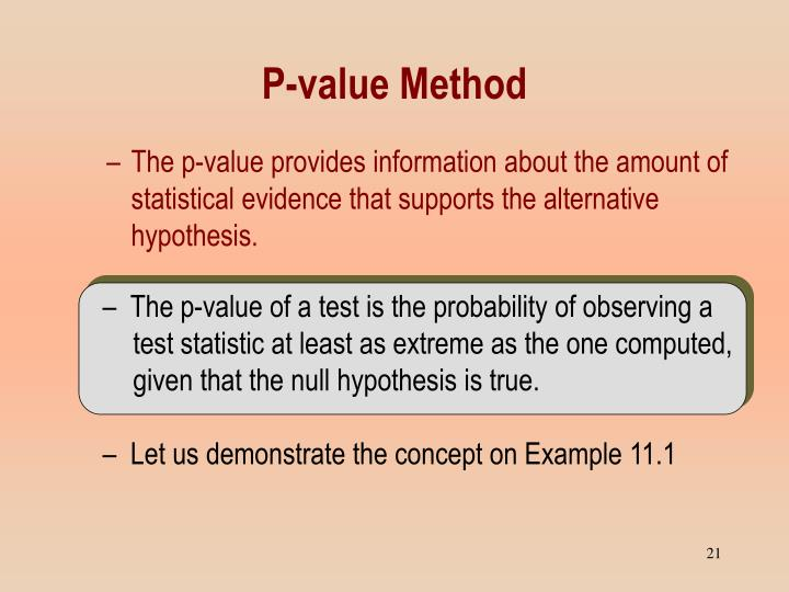 The p-value of a test is the probability of observing a